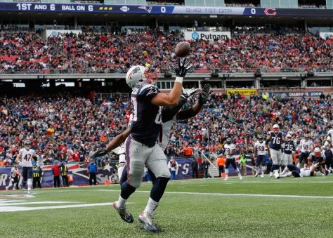 Rob Gronkowski had 149 yards and 3 touchdowns receiving to help pulverize the Bears (Jim Rogash / Getty Images)