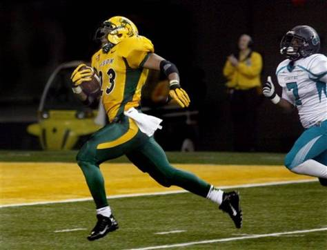 John Crockett ran for 227 yards and 2 touchdowns for North Dakota State (Bruce Crummy / AP Photo)