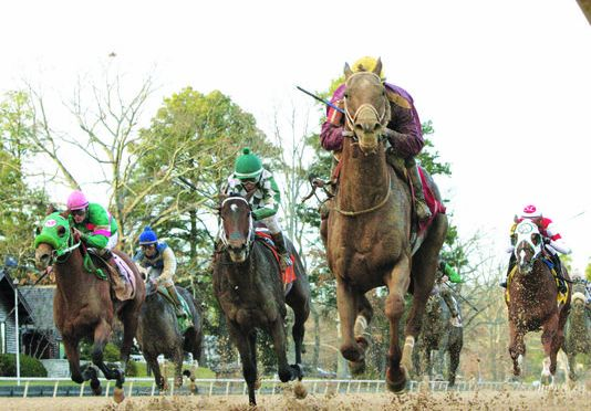 Far Right Roars Up The Rail For Smarty Jones Win
