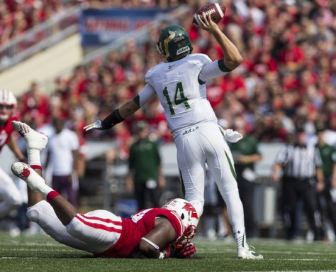USF Quarterback Mike White against Wisconsin last season (Tom Lynn/Getty Images North America)
