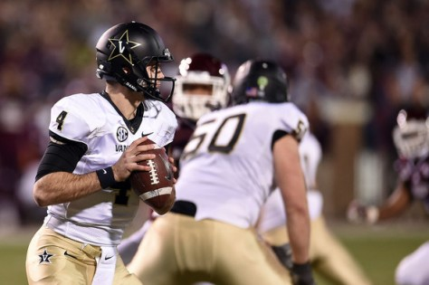 Vanderbilt QB Patton Robinette against Mississippi State in 2014 (Stacy Revere/Getty Images North America)