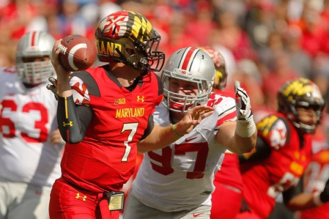 Quarterback Caleb Rowe was among 8 Maryland players to receive a medical  hardship exemption (Jonathan Ernst/Getty Images North America)