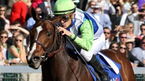 Divining Rod took over in the stretch to capture the Grade 3 Lexington Stakes (Keeneland Photo)