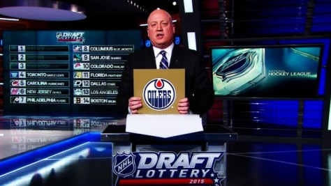 The Oilers won the 2015 NHL Draft Lottery on Saturday night (Sportsnet Canada)