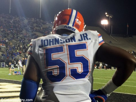 Florida Gators offensive tackle Rod Johnson before a game against Vanderbilt in 2014 (Gator Country / Nick de la Torre)