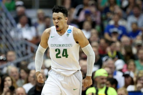 #24 Dillon Brooks and the Oregon Ducks dispatched the defending National Champions Duke to advance to the Elite 8. (Sean M. Haffey/Getty Images North America)