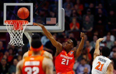Syracuse is a surprise Final Four team after storming back to defeat Virginia in the Elite Eight. (Jamie Squire/Getty Images North America)