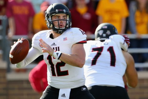 Drew Hare against Boston College in 2015. NIU has been to six straight MAC Championship Games (Maddie Meyer/Getty Images North America)