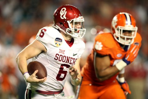 Baker Mayfield and Oklahoma lost to Clemson the 2015 College Football Playoffs. How will they fare in 2016? (Andy Lyons/Getty Images North America)