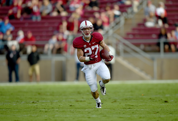 Christian McCaffrey is in action on Friday night against Kansas State (Thearon W. Henderson/Getty Images North America)