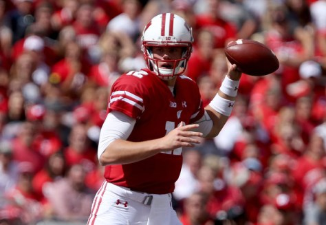 Alex Hornibrook came in and sparked the Wisconsin offense in the second half against Georgia State. (Dylan Buell/Getty Images North America)