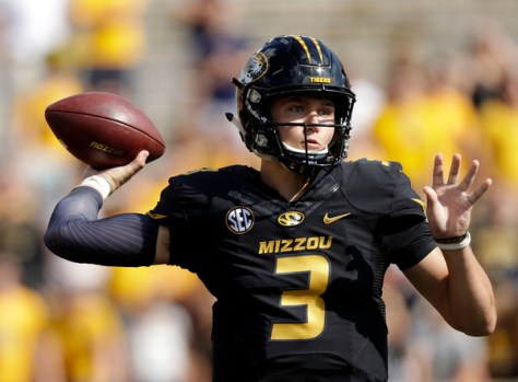 Drew Lock leads the Missouri Tigers' high powered offense will face the LSU Tigers and interim head coach Ed Orgeron. (Jamie Squire/Getty Images North America)