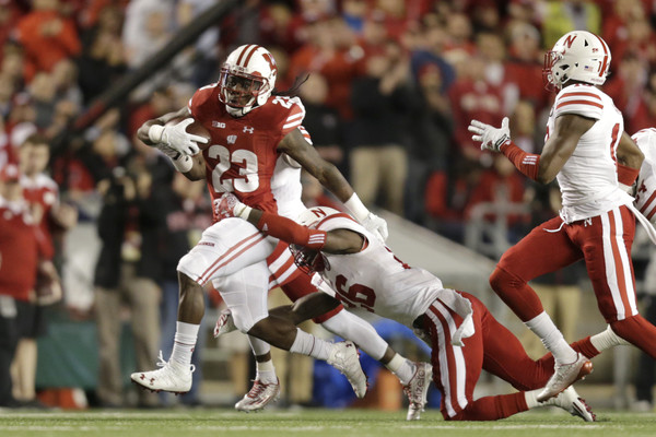 Dare Ogunbowale was the biggest offensive weapon for the Badgers in their 23-17 overtime win over Nebraska. (Mike McGinnis/Getty Images North America)