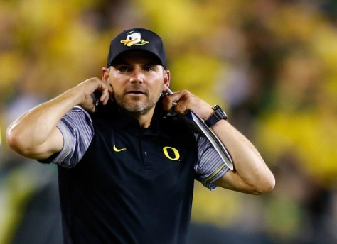 Mark Helfrich and Oregon sit at 2-4 mainly due to a bad defense. Can they turn it around in the second half of the season? (Jonathan Ferrey/Getty Images North America)