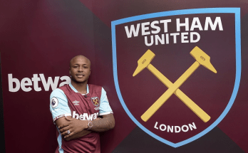 Andre Ayew joins Westham United in a club record fee