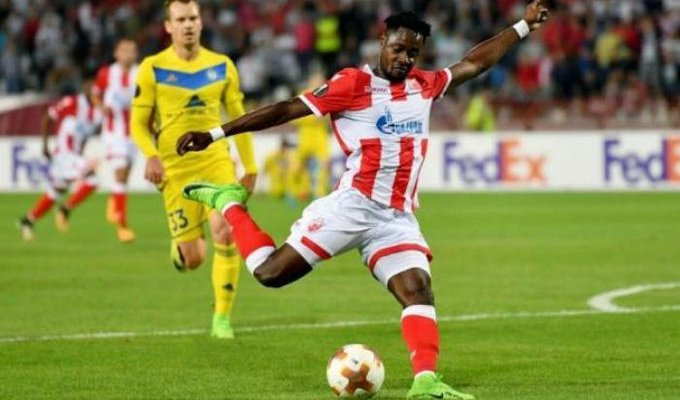 UCL: Richmond Boakye Yiadom on Target as Red Star Belgrade beat Olympiacos