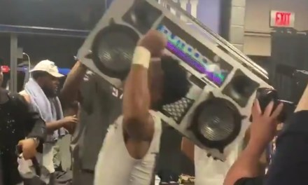 Patriots Celebrated Super Bowl Win with a Comically Large Boombox