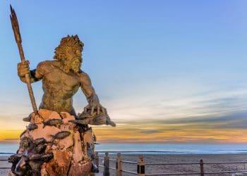 Statue of King Neptune in Virginia Beach. (Shutterstock)