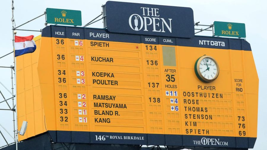 10 Reasons I Love The Open Championship   Image result for open championship scoreboard