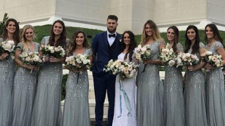 LOOK Bryce Harper Got Married To His Longtime Girlfriend