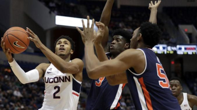 Image result for Temple Owls vs. UConn Huskies College Basketball 2019