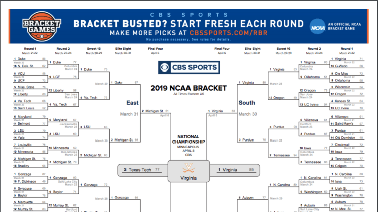 NCAA bracket 2019: Check out how Virginia was able to ...