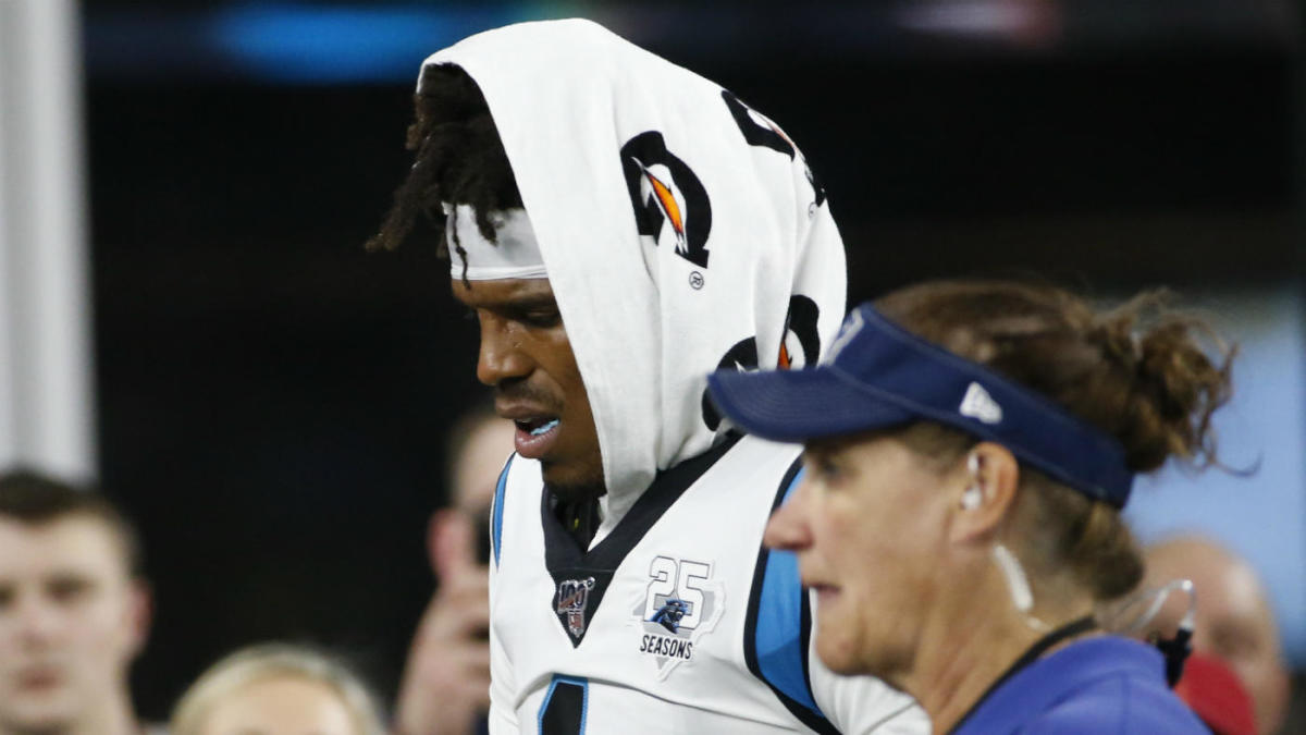 Cam Newton suffers foot injury but it