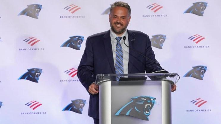 NFL: Carolina Panthers-Coach Matt Rhule Press Conference