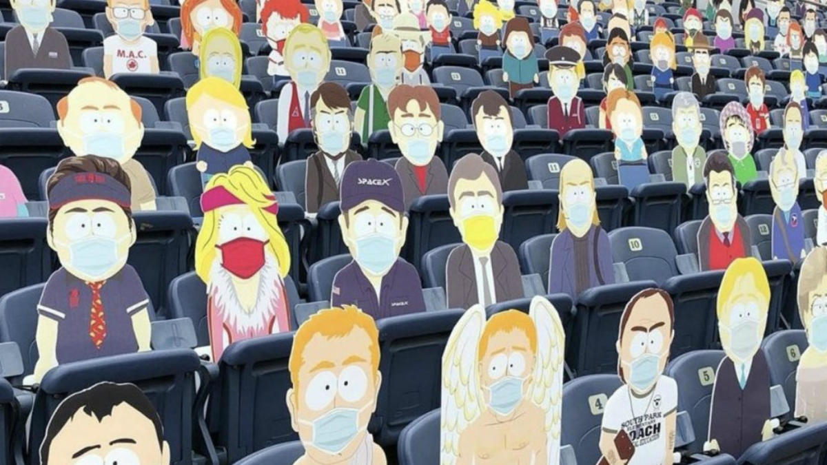 LOOK: Broncos filled empty seats with entire 'South Park' town as they  faced Tom Brady, Buccaneers - CBSSports.com