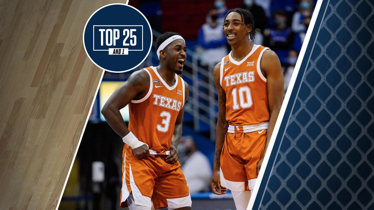College basketball rankings: Texas jumps over Kansas to No. 4 in the updated Top 25 And 1