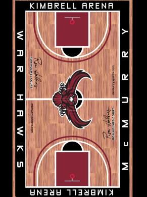 McMurry University Basketball Floor Design