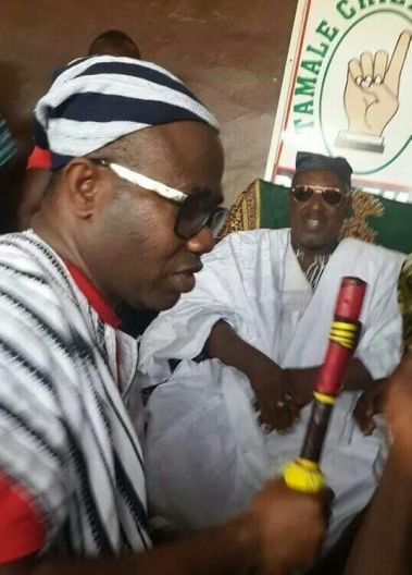 Kwesi Nyantakyi being initiated by the chief of Tamale