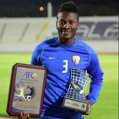 Gyan was also awarded the best foreign player in Asia for 2014