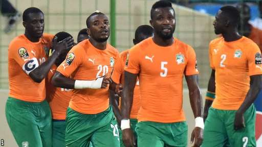 Ivory Coast jointly got the most yellow cards (7) and  also recorded the only red card so far (Gervinho)