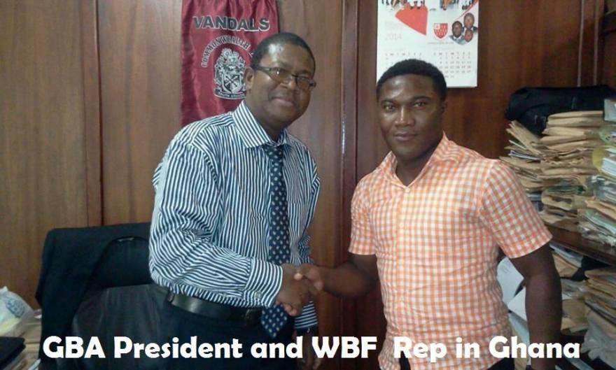 Zwennes and WBF rep John Welbeck