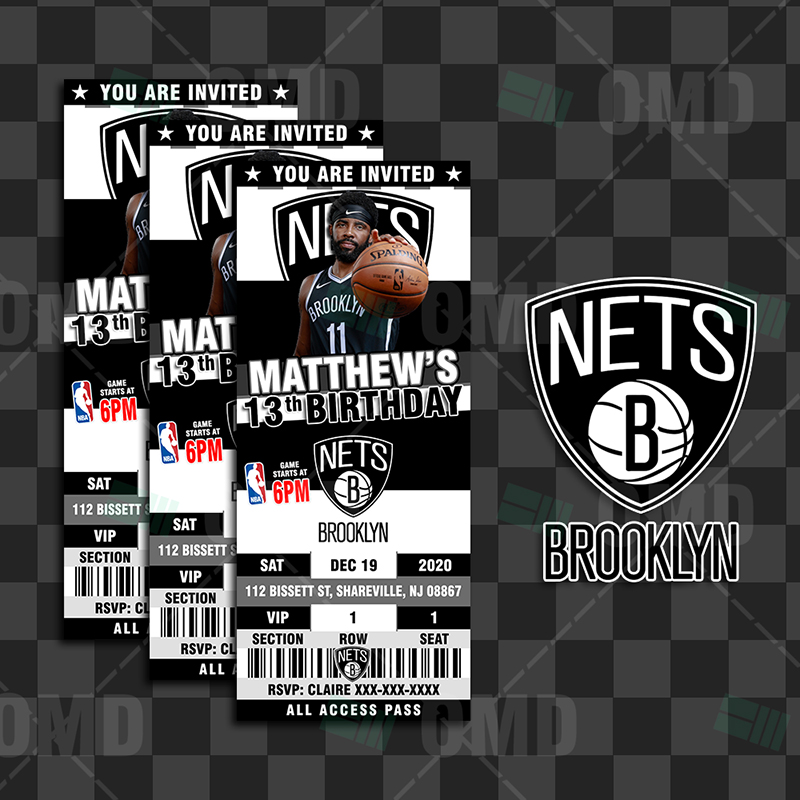 brooklyn nets sports ticket style party