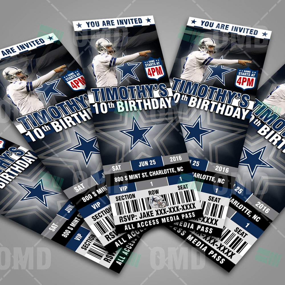 Dallas Cowboys Football Ultimate Party Package Sports Invites