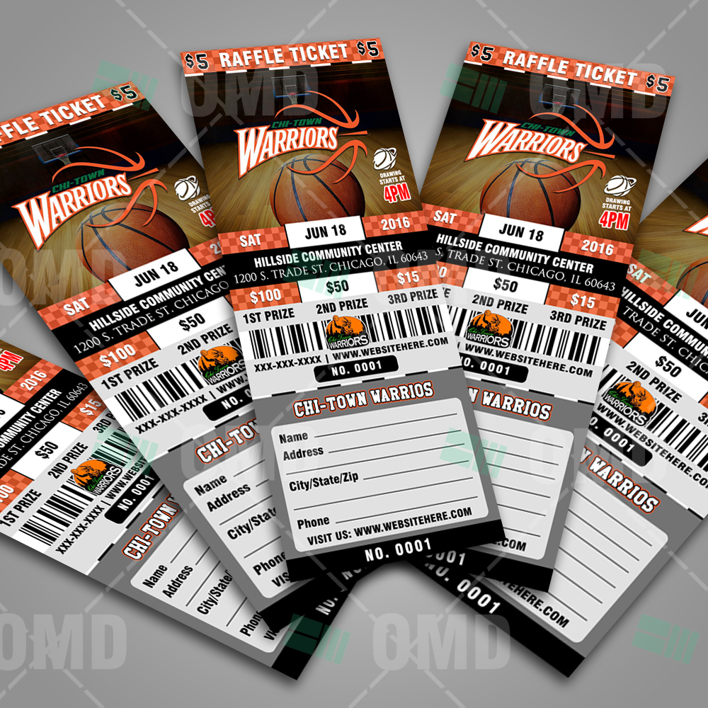 Basketball Raffle Ticket Template Sports Invites