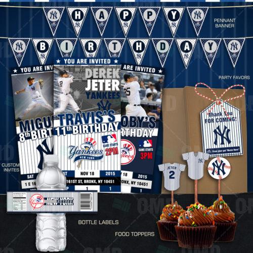 Baby Shower Invitations Yankees