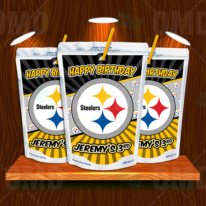 Pittsburgh Steelers Birthday Party Capri Sun Labels Sports Invites