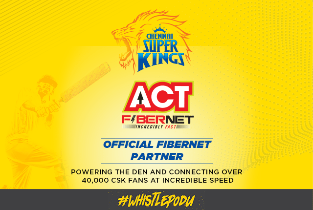 Chennai Super Kings Partners Sponsors Brands Companys Logos Jersey TVc Advert  ACT Fibernet