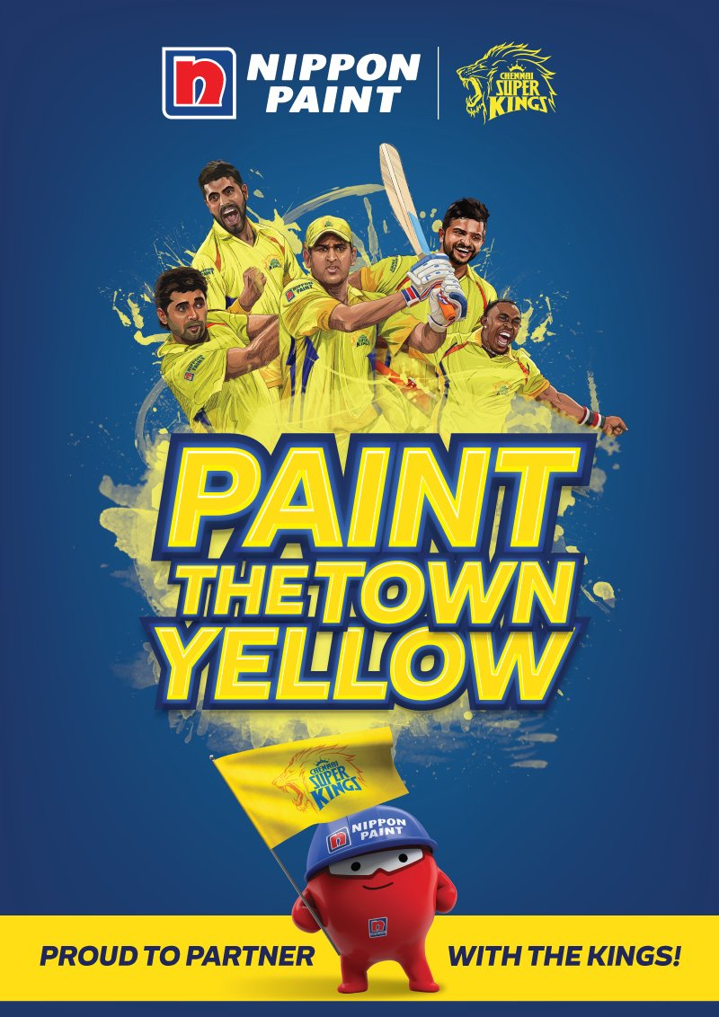 Chennai Super Kings Partners Sponsors Brands Companys Logos Jersey TVc Advert  Nippon Paint