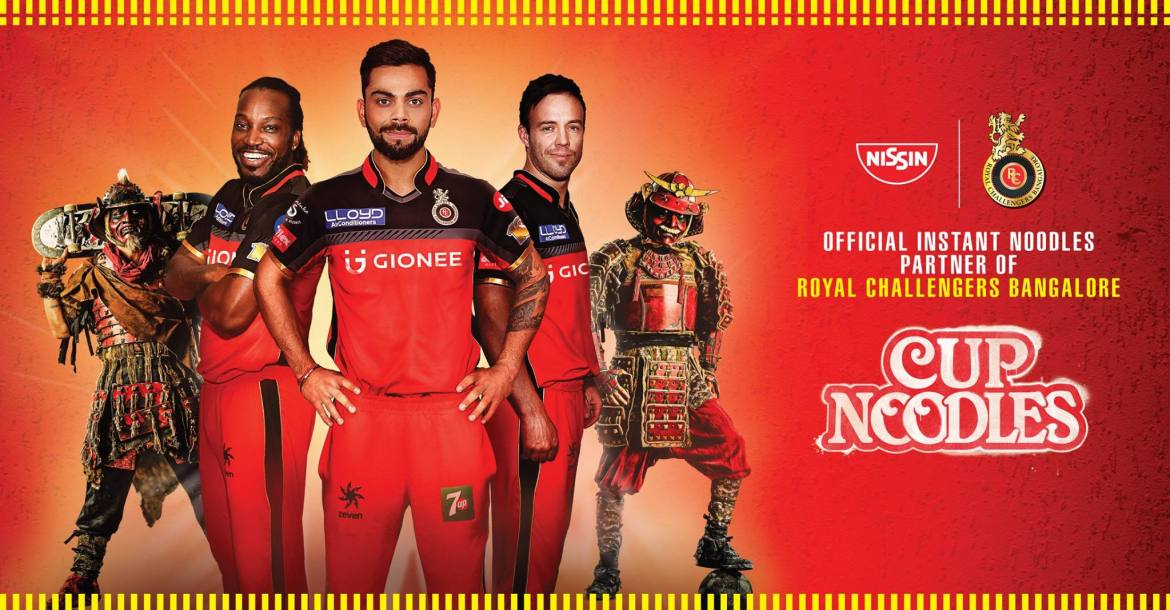 Royal Challengers Bangalore RCB Sponsor List Partners Logo Jersey Brand Endorsements Nissin