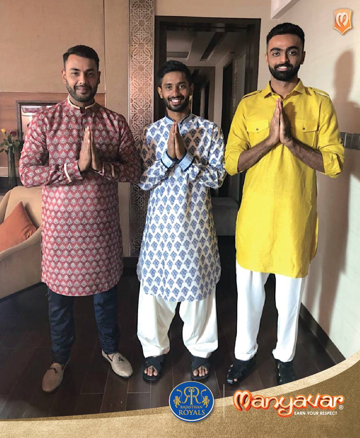 Rajasthan RoyalsOfficial Sponsors List Partners Brand Ambassador Logos On Jerseys Manyavar