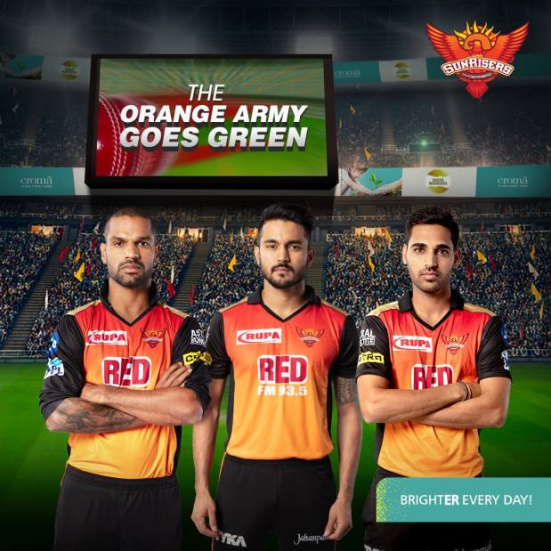 Sunrisers Hyderabad SRH Sponsors Logos Jerseys Brand Endorsements Partners Sponsorship Croma Electronics