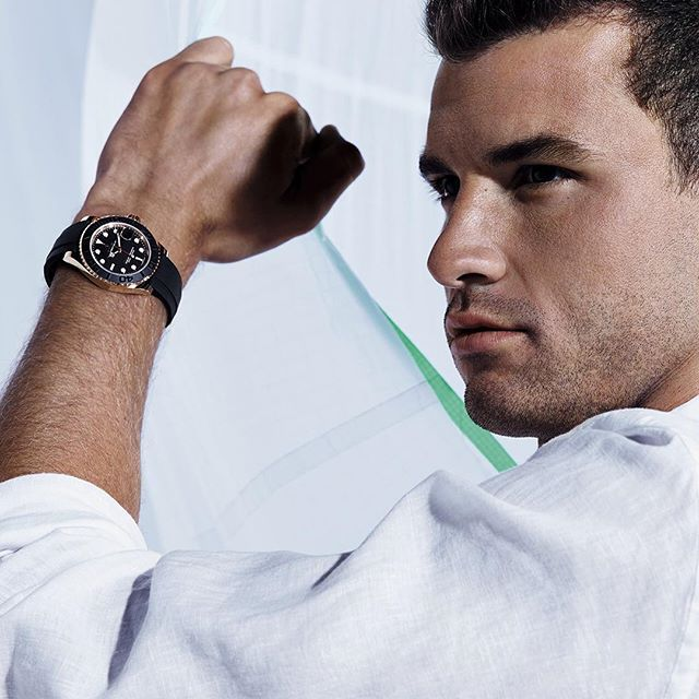 Wrist Watch Brands Endorsed Promoted advertised by tennis stars players Grigor Dimitrov –  Rolex