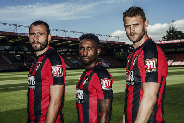 Bournemouth Mansion Shirt Sleeve Sponsor Logo Brand Premier League Football Clubs
