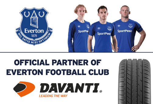 Everton Football Club Partners Sponsors Brand Associations Logos Advertising Davanti Tyres