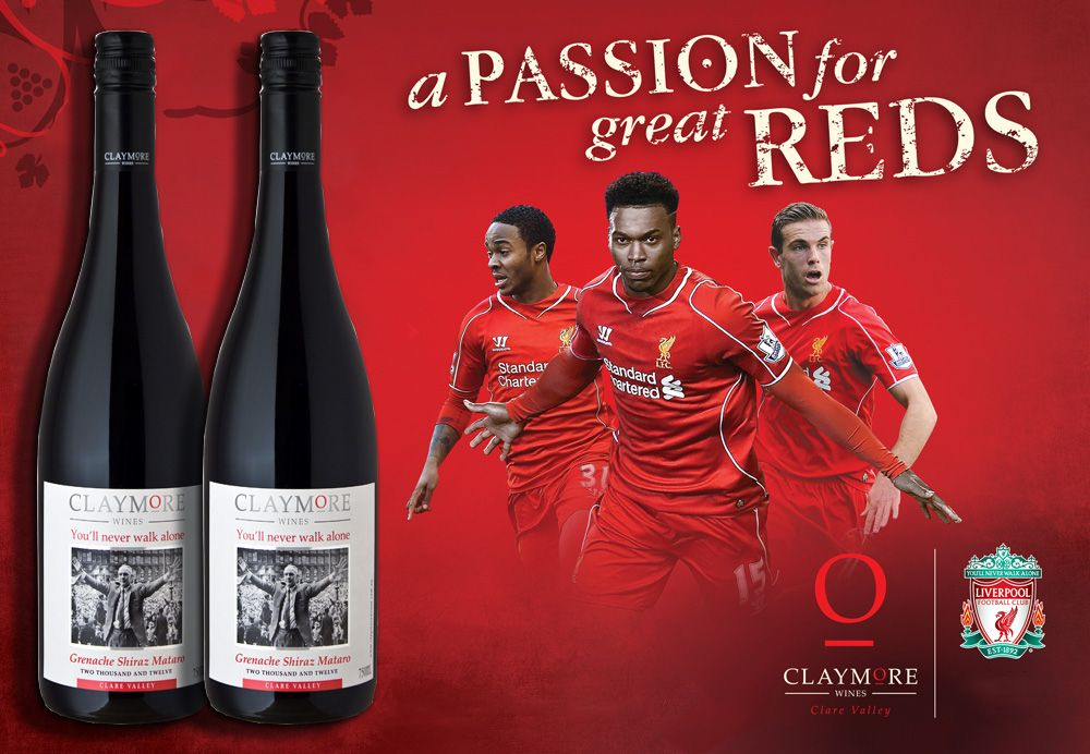 Liverpool Sponsors Partners brand associations advertisements logos ads Claymore Wines