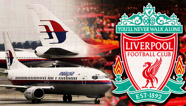 Liverpool Sponsors Partners brand associations advertisements logos ads Malaysia Airlines